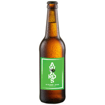 Blond Bier 33 cl met eigen etiket